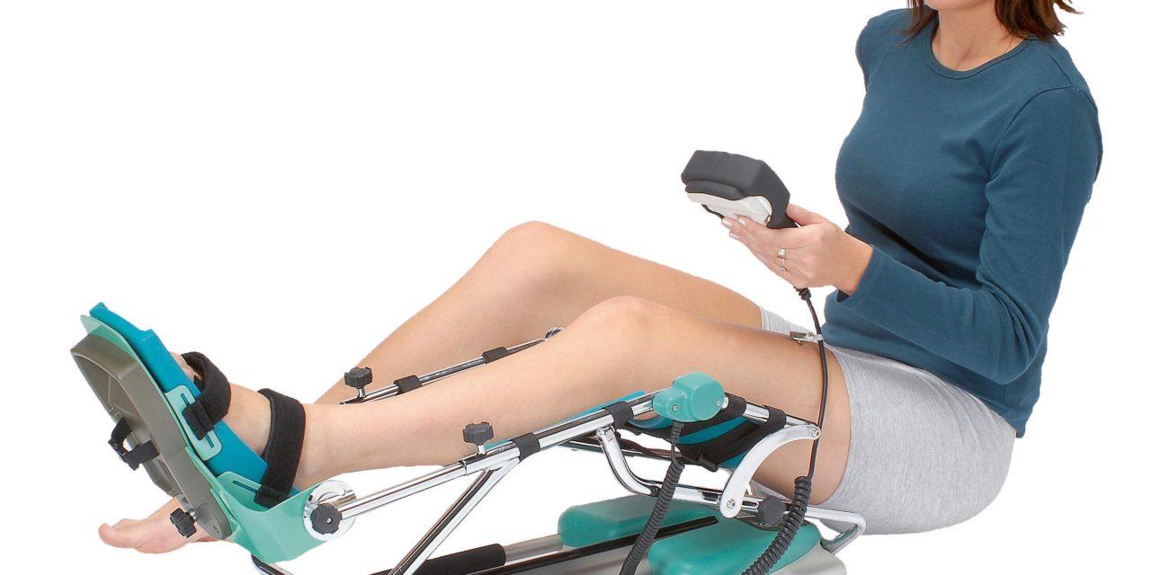 Passive Gelenk-Bewegungstherapie mit CPM-Motorschiene
